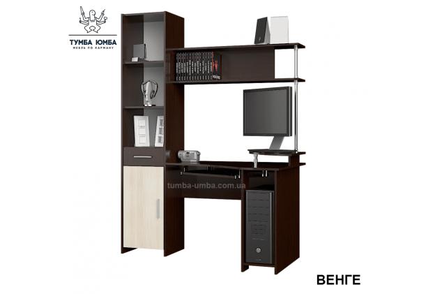 Фото готовый прямой стандартный стол Профи в офис или домой для ноутбука или ПК в цвете венге дешево от производителя с доставкой по всей Украине