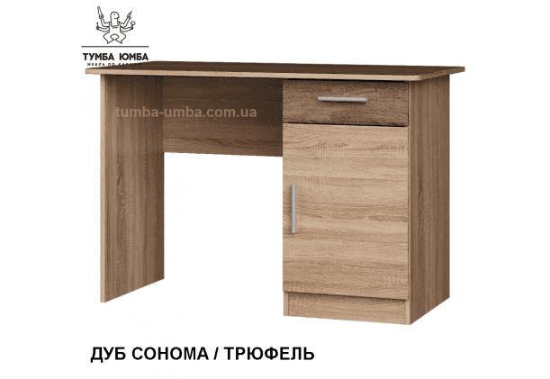 Фото готовый прямой стандартный стол Школьник-3 в офис или домой для ноутбука или ПК в цвете дуб сонома дешево от производителя с доставкой по всей Украине