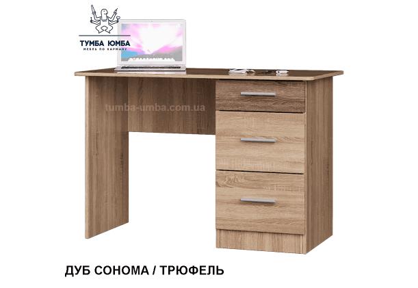 Фото готовый прямой стандартный стол Школьник-4 в офис или домой для ноутбука или ПК в цвете дуб сонома дешево от производителя с доставкой по всей Украине