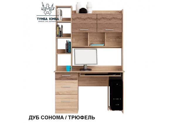 Фото готовый прямой стандартный стол Школьник-6 в офис или домой для ноутбука или ПК в цвете дуб сонома дешево от производителя с доставкой по всей Украине