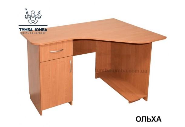 Фото готовый прямой стандартный стол СКУ-2 в офис или домой для ноутбука или ПК в цвете ольха дешево от производителя с доставкой по всей Украине