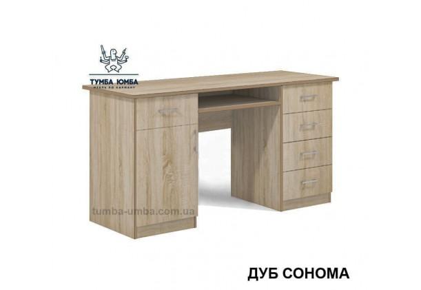 Фото готовый прямой стандартный стол СП-1 в офис или домой для ноутбука или ПК в цвете дуб сонома дешево от производителя с доставкой по всей Украине