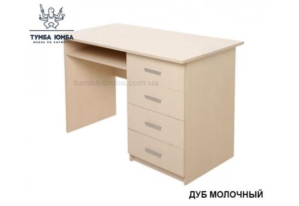 Фото готовый прямой стандартный стол СПФ-3 в офис или домой для ноутбука или ПК в цвете дуб молочный дешево от производителя с доставкой по всей Украине