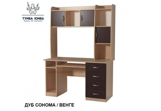 Фото готовый прямой стандартный стол СПК-08 в офис или домой для ноутбука или ПК в цвете дуб сонома венге дешево от производителя с доставкой по всей Украине