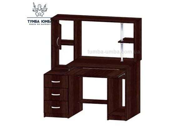 Фото готовый прямой стандартный стол СКТ-3 в офис или домой для ноутбука или ПК в цвете венге дешево от производителя с доставкой по всей Украине