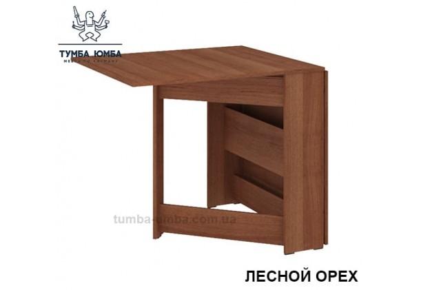 фото недорогой современный раскладной стол-книжка-4 ДСП Алекс цвет лесной орех в интернет-магазине мебели эконом-класса TUMBA-UMBA™
