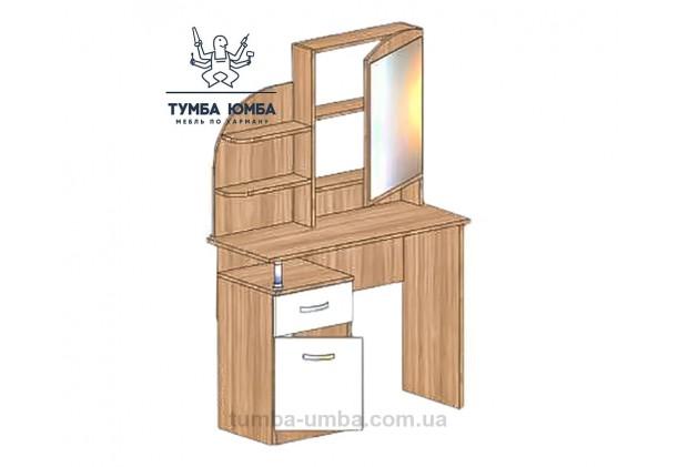 Фото женский туалетный столик Трюмо-3 с зеркалом и тумбами для косметики в спальню или прихожую дешево от производителя с доставкой по всей Украине