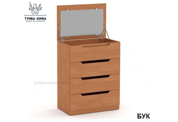 Фото недорогой современный Комод-Трюмо с зеркалом ДСП Компанит цвет бук в интернет-магазине TUMBA-UMBA™ Украина