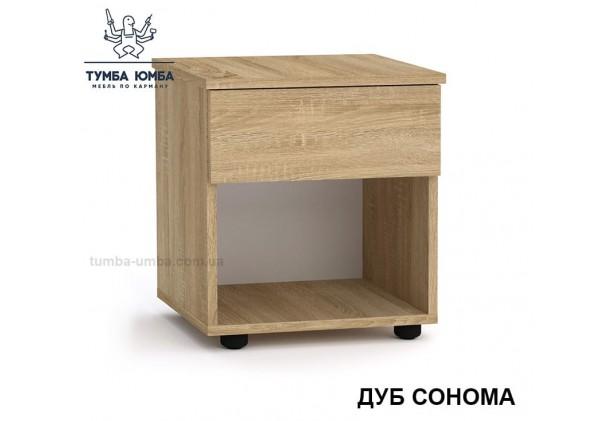 Фото недорогая стандартная прикроватная в спальню или офисная тумба под принтер и оргтехнику ПКТ-8 ДСП с нишей и ящиками в цвете дуб сонома дешево от производителя с доставкой по всей Украине