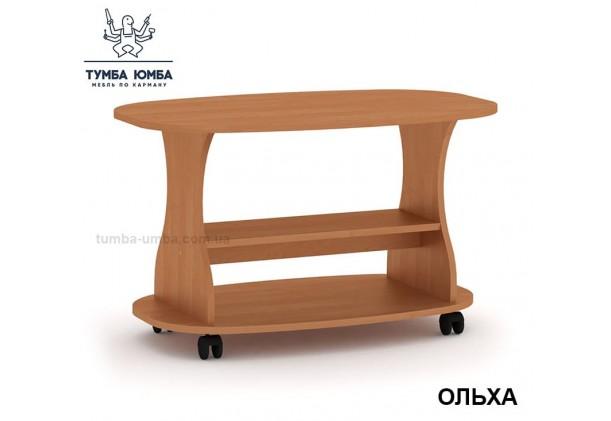 фото недорогой современный журнальный стол Каприз ДСП Компанит цвет ольха в интернет-магазине мебели эконом-класса TUMBA-UMBA™
