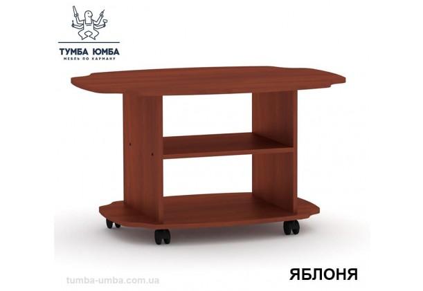 фото недорогой современный журнальный стол Твист ДСП Компанит цвет яблоня в интернет-магазине мебели эконом-класса TUMBA-UMBA™