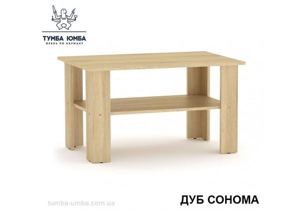 фото недорогой современный журнальный стол Мадрид-2 Компанит цвет Дуб Сонома в интернет-магазине мебели эконом-класса TUMBA-UMBA™