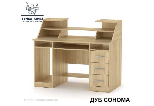 Фото готовый прямой стандартный стол Комфорт-5 в офис или домой для ноутбука или ПК в цвете дуб сонома дешево от производителя с доставкой по всей Украине