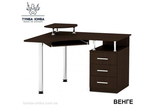 Фото готовый угловой стандартный стол СУ-2 в офис или домой для ноутбука или ПК в цвете венге дешево от производителя с доставкой по всей Украине