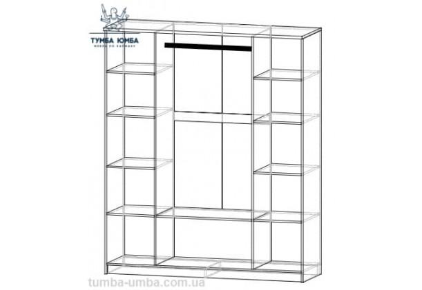 Шкаф одёжный 4Д Даллас с зеркалами
