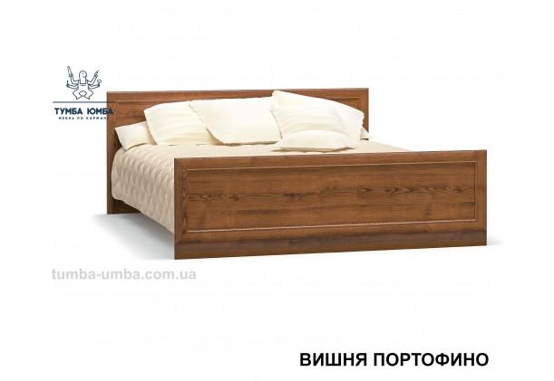 фото стандартная двуспальная кровать Даллас 160 см в спальню в цвете вишня портофино дешево от производителя с доставкой по всей Украине