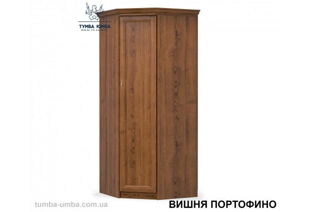 Фото недорогой готовый стандартный платяной угловой Шкаф Даллас цвет вишня портофино ДСП для одежды дешево от производителя с доставкой по всей Украине в интернет-магазине TUMBA-UMBA™