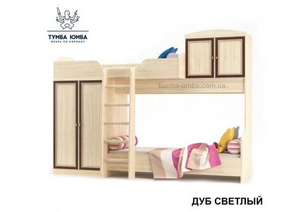 фото односпальная кровать-чердак Дисней в цвете дуб светлый дешево от производителя Мебель Сервис с доставкой по всей Украине в интернет-магазине Тумба Юмба.