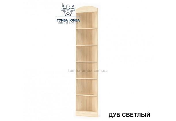 Фото недорогой стандартный мебельный открытый угловой пенал Дисней ДСП с полками для дома и офиса в цвете дуб светлый дешево от производителя с доставкой по всей Украине