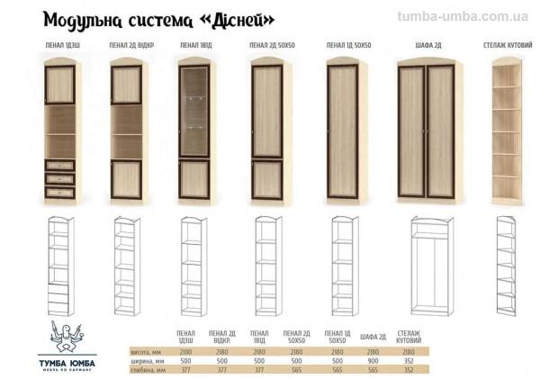 Закрытый пенал Дисней 2Д с полками МС