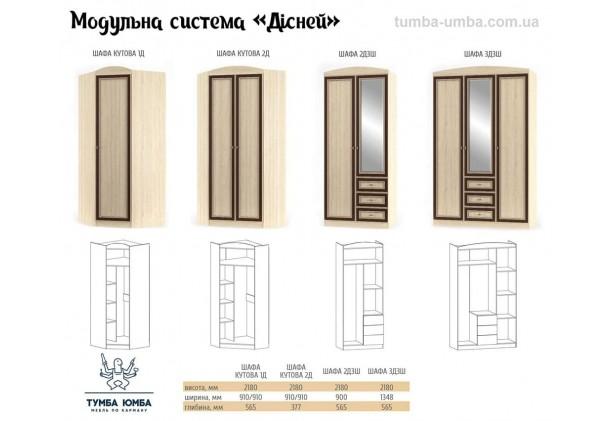 Шкаф одёжный 2Д Дисней МС