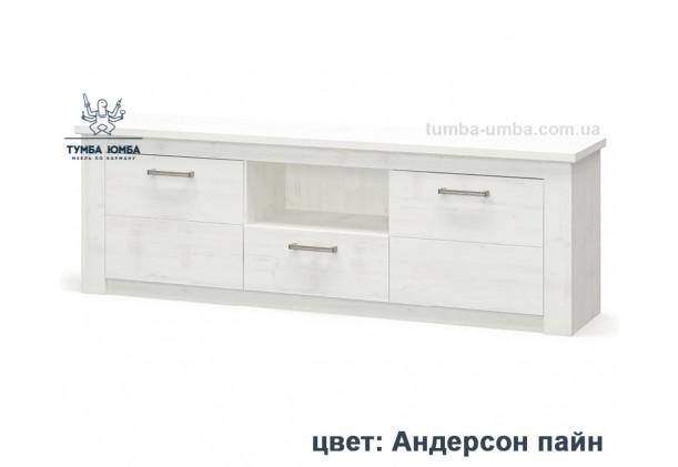 Фото недорогая современная напольная тумба 2Д1Ш под телевизор и аппаратуру Джоржиа ДСП в цвете андерсон пайн дешево от производителя Мебель-Сервис с доставкой по всей Украине в интернет-магазине TUMBA-UMBA™