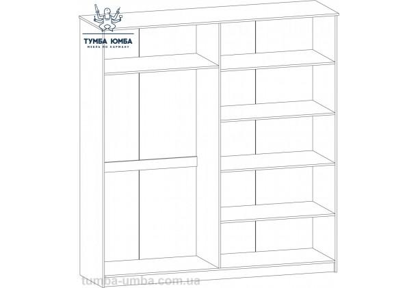 Шкаф одёжный 4Д Ева Макасар МС