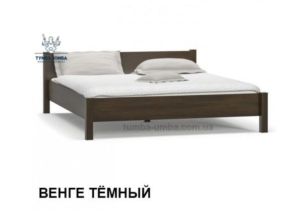 фото стандартная двуспальная кровать Фантазия 160 см в спальню в цвете венге дешево от производителя с доставкой по всей Украине