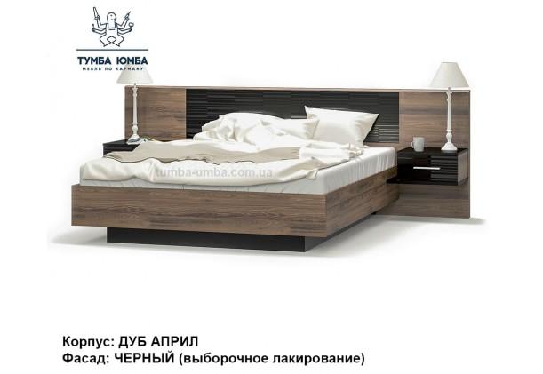 фото стандартная двуспальная кровать Фиеста 160 см в цвете дуб април дешево от производителя с доставкой по всей Украине
