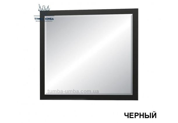 Фото недорогое готовое Зеркало Фиеста на стену в зал, прихожую, спальню или офис в черном цвете дешево от производителя с доставкой по всей Украине