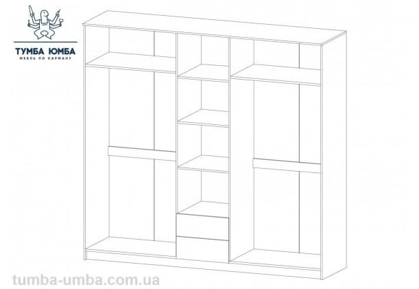 Шкаф одёжный 5Д Флорис МС