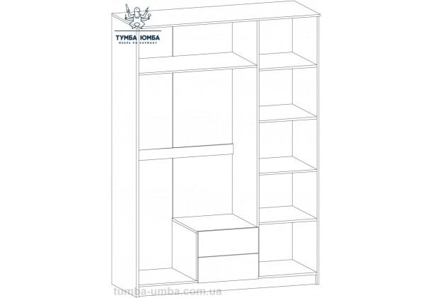 Шкаф одёжный 3Д Флорис МС