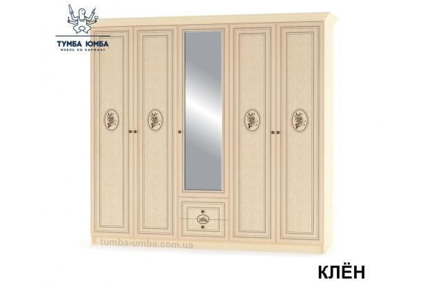 Фото недорогой готовый стандартный платяной Шкаф 5Д Флорис цвет Клён Шелкография Лак ДСП для одежды дешево от производителя с доставкой по всей Украине в интернет-магазине TUMBA-UMBA™