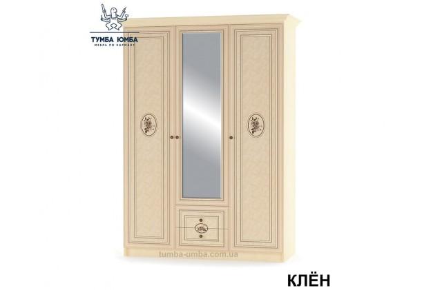 Фото недорогой готовый стандартный платяной Шкаф 3Д Флорис цвет Клён Шелкография Лак ДСП для одежды дешево от производителя с доставкой по всей Украине в интернет-магазине TUMBA-UMBA™
