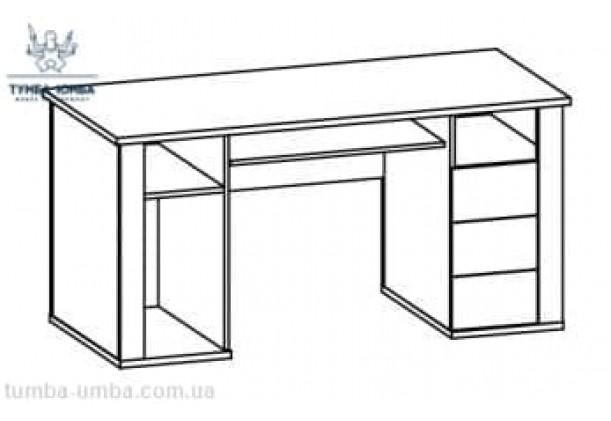 Письменный стол Гресс 1Д3Ш МС