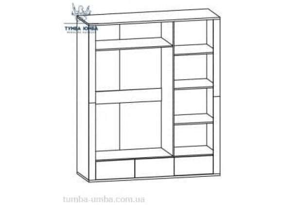 Шкаф одёжный 2Д1Дз3Ш Гресс МС