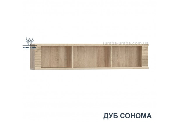 фото недорогая настенная полка-160 Гресс в цвете дуб сонома для книг в гостиную, над столом, кухню или прихожую дешево от производителя с доставкой по всей Украине в интернет-магазине TUMBA-UMBA™