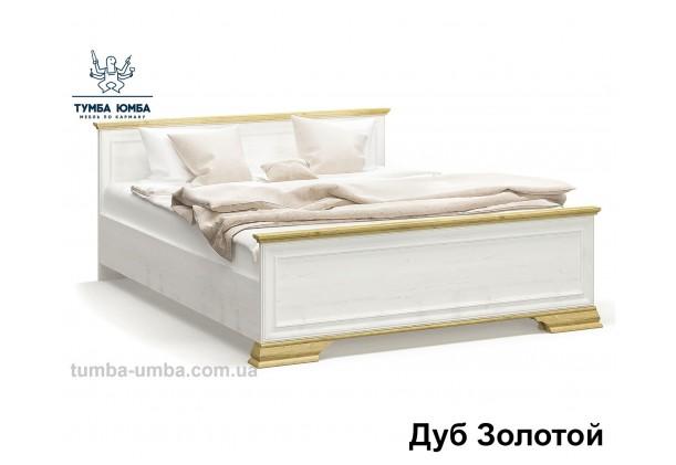 фото стандартная двуспальная кровать Ирис 160 см в белом цвете с вставкой дуб золотой дешево от производителя с доставкой по всей Украине