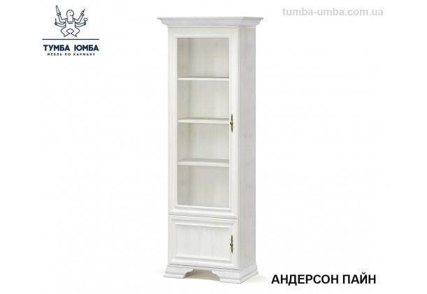 Фото недорогой стандартный мебельный распашной пенал-витрина со стеклянной дверцей Ирис ДСП с полками для дома и офиса в цвете белый дешево от производителя с доставкой по всей Украине в интернет-магазине TUMBA-UMBA™