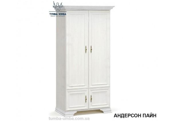 Фото недорогой готовый стандартный платяной Шкаф 2Д Ирис цвет белый ДСП для одежды с ящиком дешево от производителя с доставкой по всей Украине в интернет-магазине TUMBA-UMBA™