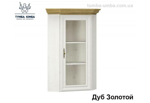 Фото недорогая современная угловая настенная тумба-витрина Ирис ДСП в цвете белый и дуб золотой дешево от производителя с доставкой по всей Украине в интернет-магазине TUMBA-UMBA™
