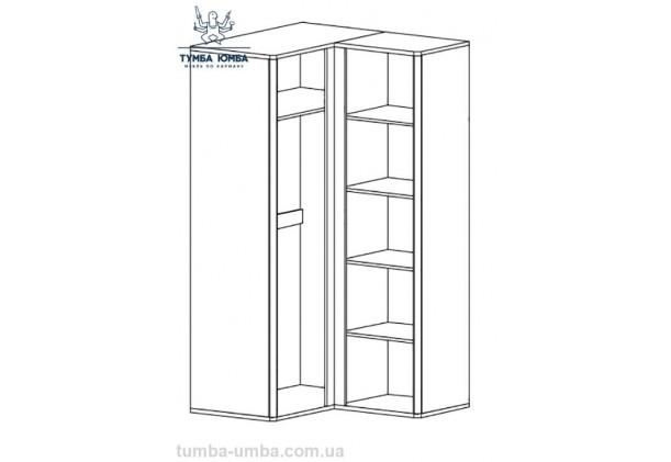 Угловой шкаф одёжный Лео МС