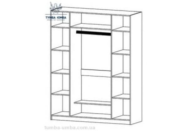 Шкаф одёжный 4Д Милано