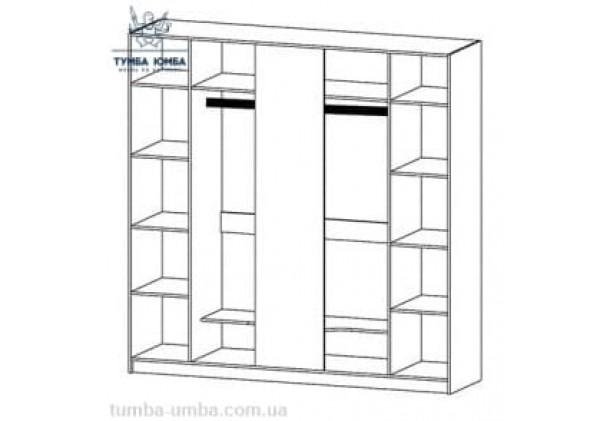 Шкаф одёжный 5Д Милано