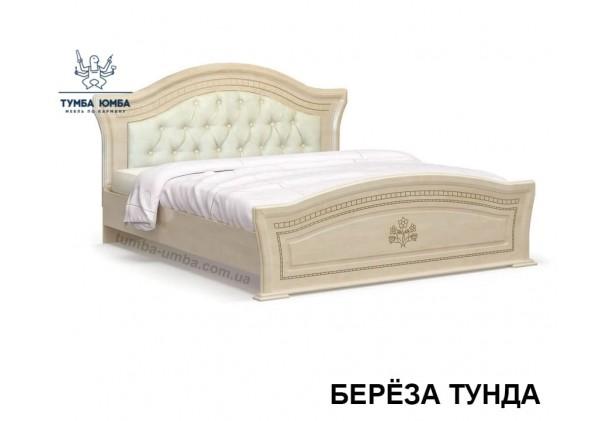 фото недороге ліжко МДФ Мілано під матрац в кольорі береза тундра в інтер'єрі