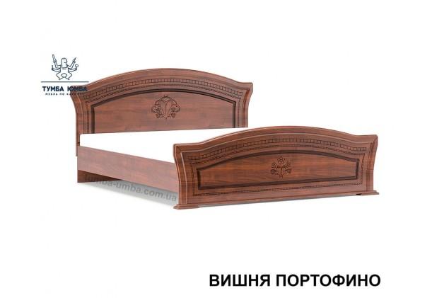 фото стандартная двуспальная кровать МДФ Милано 160 см в спальню в цвете вишня портофино дешево от производителя с доставкой по всей Украине