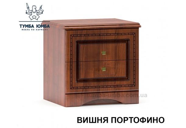Фото недорогие классические прикроватные тумбочки в спальню Милано цвет МДФ вишня с ящиком и дверцей дешево от производителя с доставкой по всей Украине
