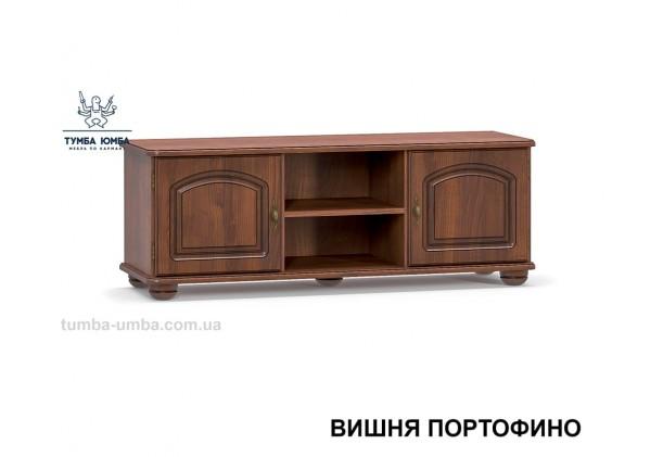 Фото недорогая современная напольная тумба под телевизор и аппаратуру Салма МДФ в цвете вишня портофино дешево от производителя Мебель-Сервис с доставкой по всей Украине в интернет-магазине TUMBA-UMBA™