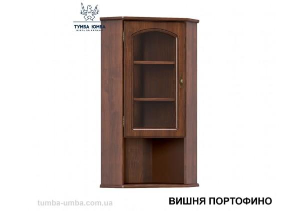 Фото недорогая современная угловая надставка-витрина Салма в цвете вишня портофино дешево от производителя с доставкой по всей Украине в интернет-магазине TUMBA-UMBA™