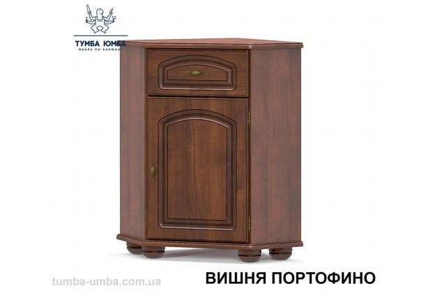 Фото недорогой классический угловой комод Салма МДФ цвет вишня портофино дешево от производителя Мебель-Сервис с доставкой по всей Украине в интернет-магазине TUMBA-UMBA™